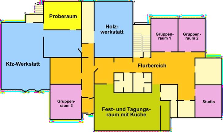 Raumplan Erdgeschoß
