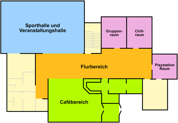 Raumplan Obergeschoß